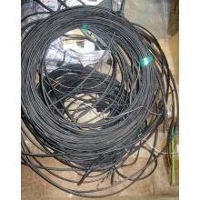 Оптический кабель Б/У для внешней прокладки (с металлическим тросом) в Камышине, оптокабель БУ (Камышин)